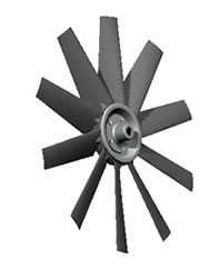 10-blade Type 3 hovercraft fan with polyamide heavy duty blades