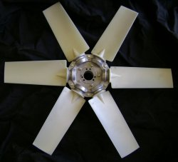 6-blade Type 5 hovercraft fan with polyamide blades